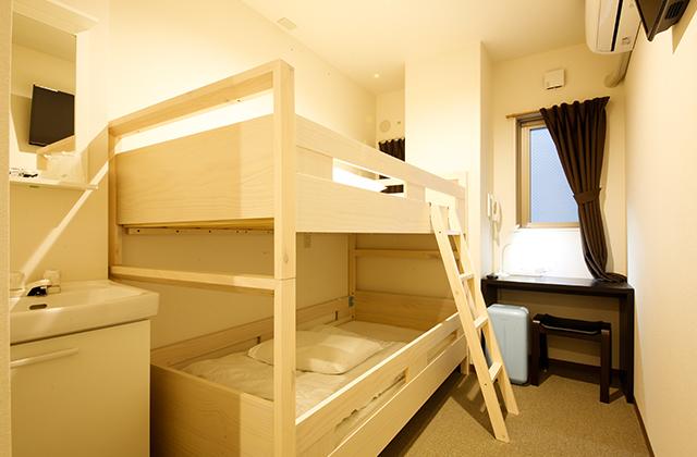 ツインルーム二段ベッド